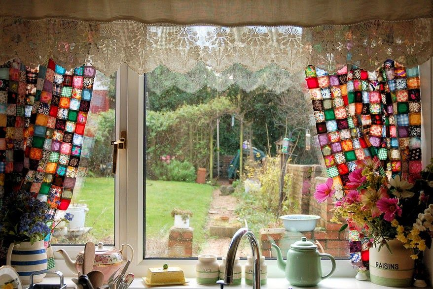 Curtain Ideas Kitchen Curtains Awesome Color Design Patchwork