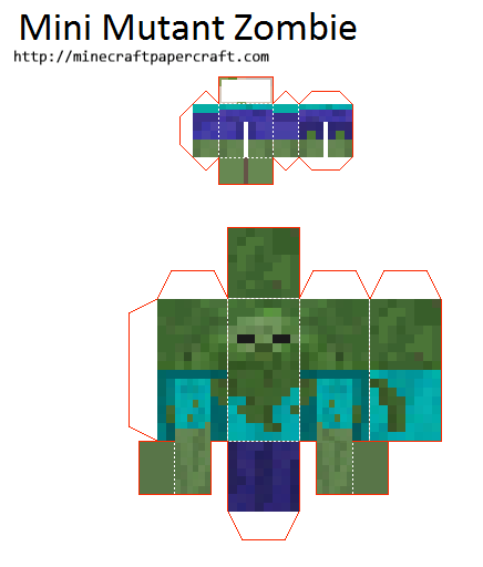 Papercraft Mini Mutant Mobs (Mutant Mobs Mod)