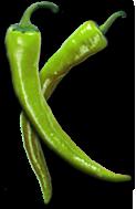 Gebraden kip van Jamie Oliver.   Die groene pepers slaan nergens op, maar andere foto's staan er niet op de pagina. :-)