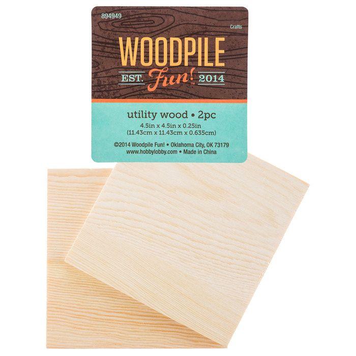 "4 1/2"" x 4 1/2"" Craft Wood"