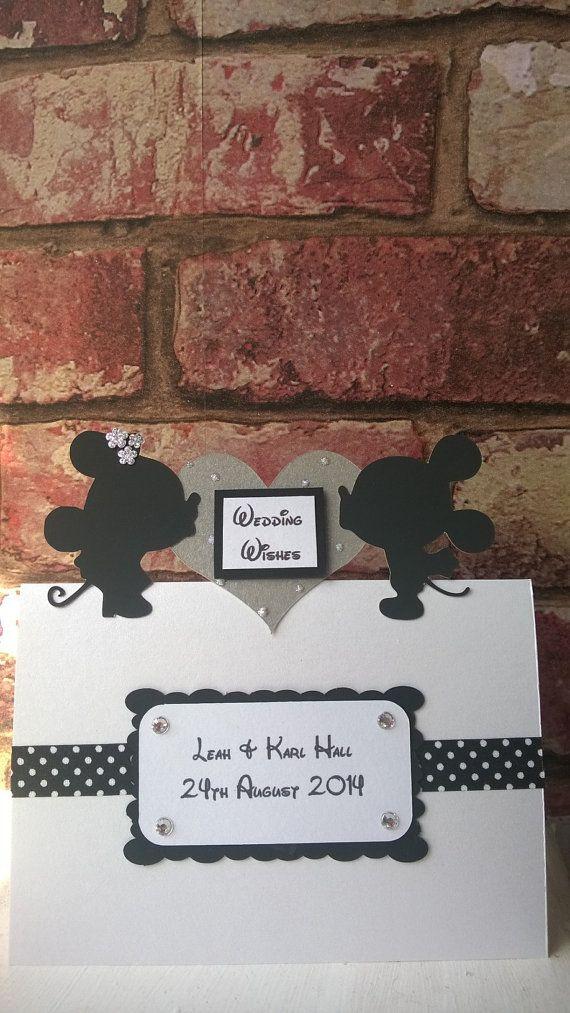 Cute Minnie & Mickey Wedding Card or Invitation