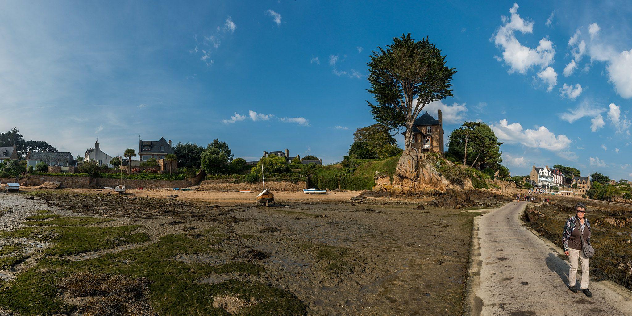 L'île de Bréhat à marée basse. Bretagne.