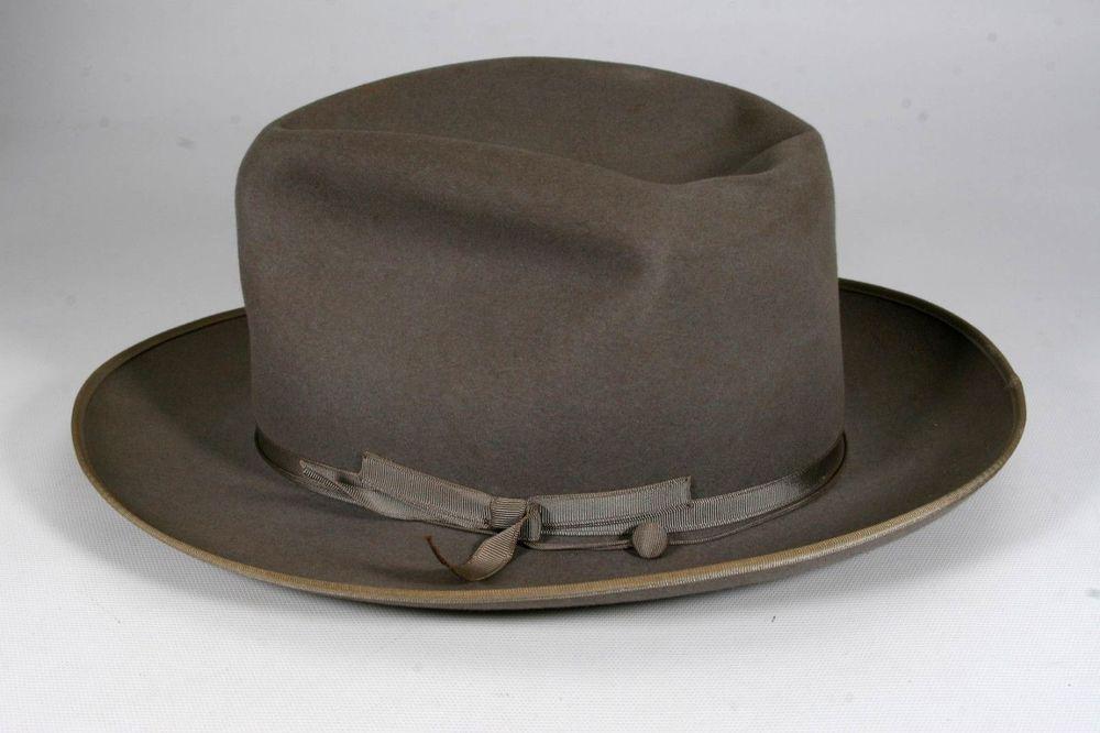 Vintage 1960 s Gray Royal Stetson Stratoliner Fedora Mens Hat Size 7 1 8   JohnBStetsonCompany  Fedora f8cc9245209