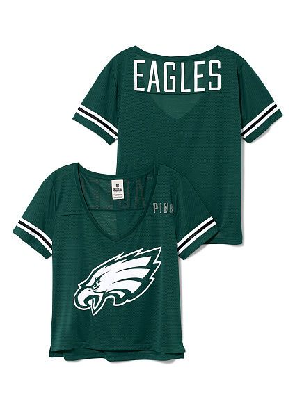 quality design df9a5 7fc47 Philadelphia Eagles Cropped V-Neck Athletic Jersey | Yes ...