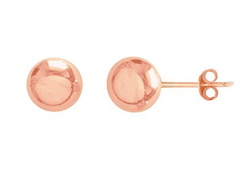 7a6077aaa Children's 14k Rose Pink Gold Ball 3mm Baby Stud Post Earrings *** FIND OUT
