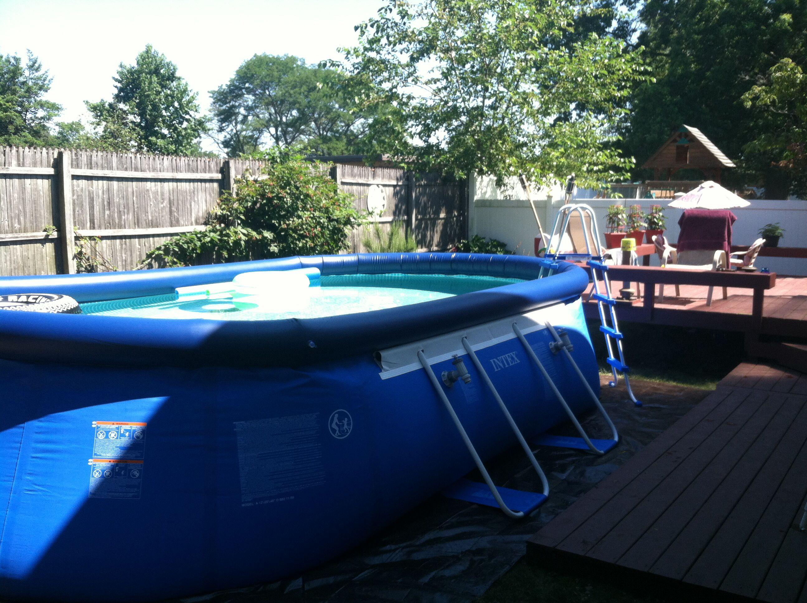 best pool ever easy set up swim all summer long intex intexpool my intex pool pinterest. Black Bedroom Furniture Sets. Home Design Ideas