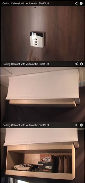 Lift For Shelves That Can Drop Down From The Ceiling