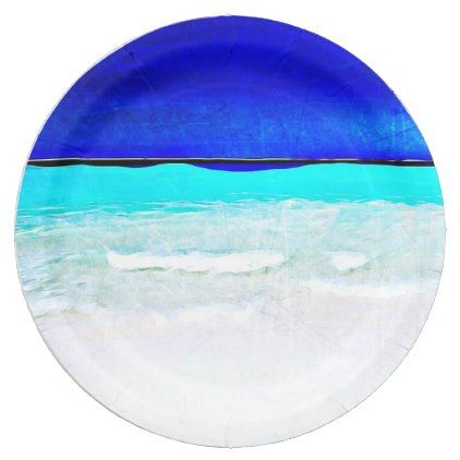sc 1 st  Pinterest & Blue Ocean Sandy Beach paper Plates | Sandy beaches and Products