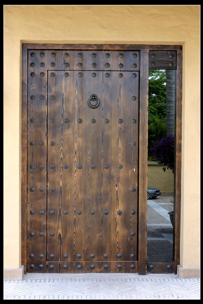 Puerta de entrada r stica casas pinterest entrada - Puertas de entrada de madera rusticas ...