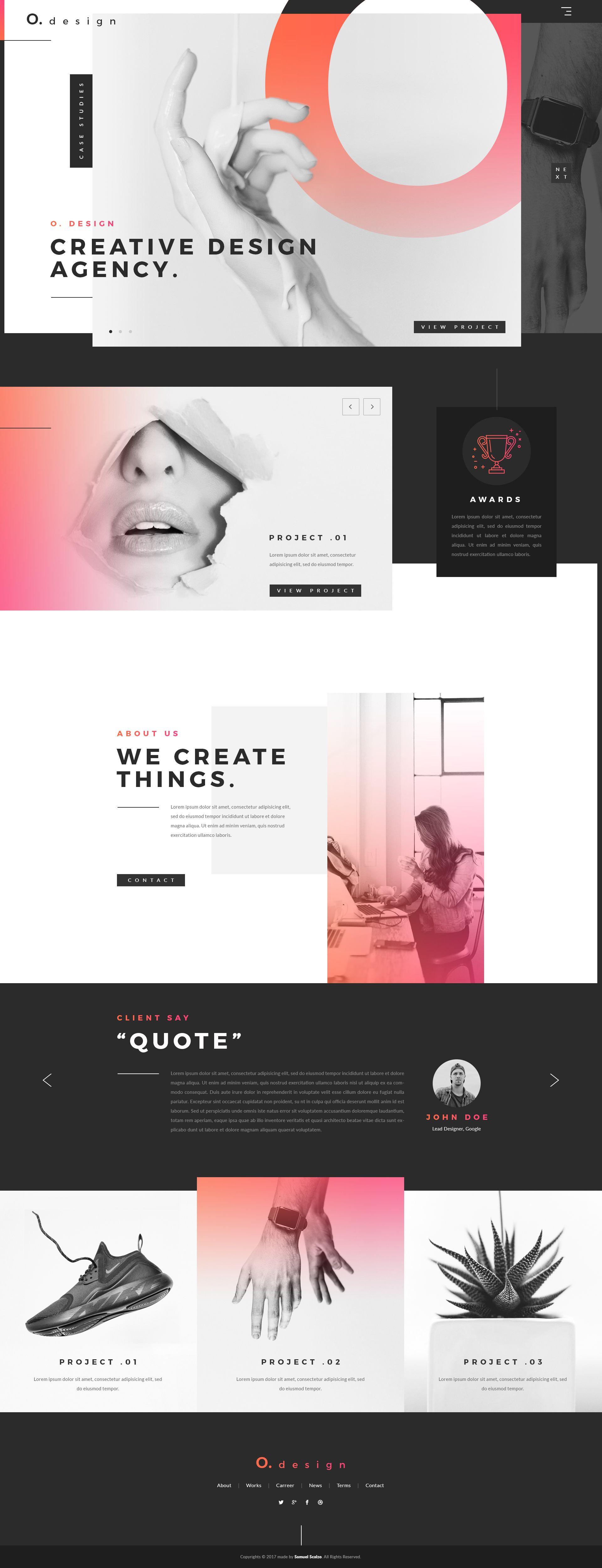 Creative design agency landing page hd