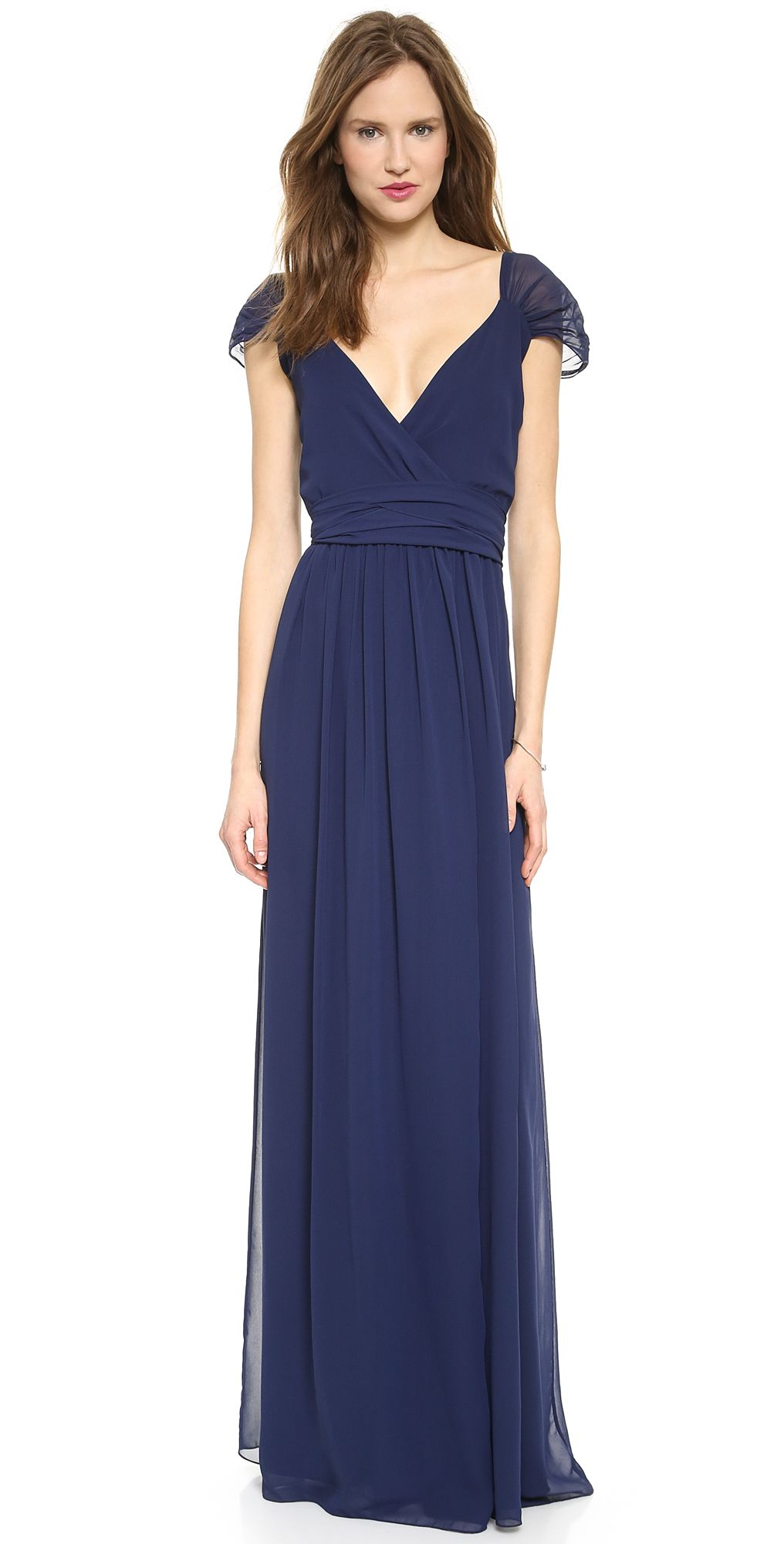 Joanna august cap sleeve dress in blue 27500 bella bridal parties ombrellifo Image collections