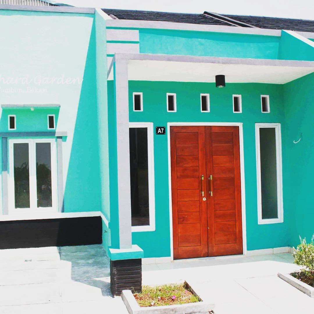 Warna Cat Rumah Minimalis Tampak Depan Hijau Luar