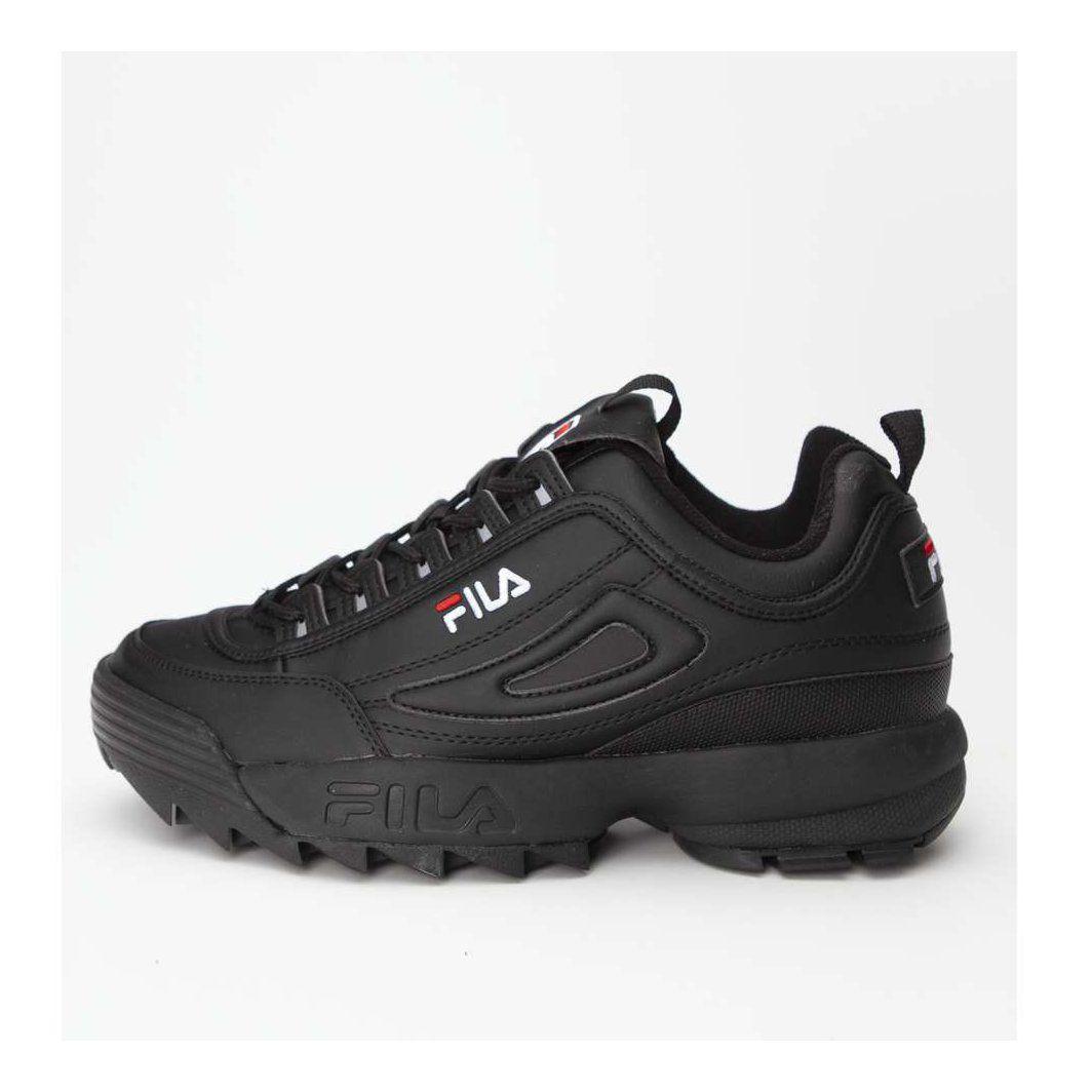 Sportowe Meskie Fila Fila Czarne Disruptor Low 12v Black Sketchers Sneakers Shoes Black
