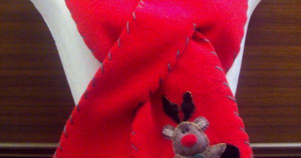 $20.000 COP Bufanda navideña hecha en fleese para niños y adultos | bufandas navidad | Pinterest | Cops