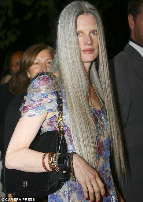 Daring to go grey: The 45-year-old model who is bucking ...