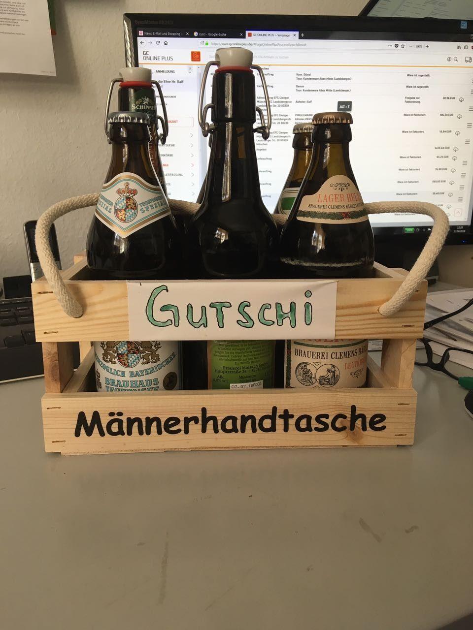 Bier Männer Handtasche lustig witzig Sprüche Bild Bilder