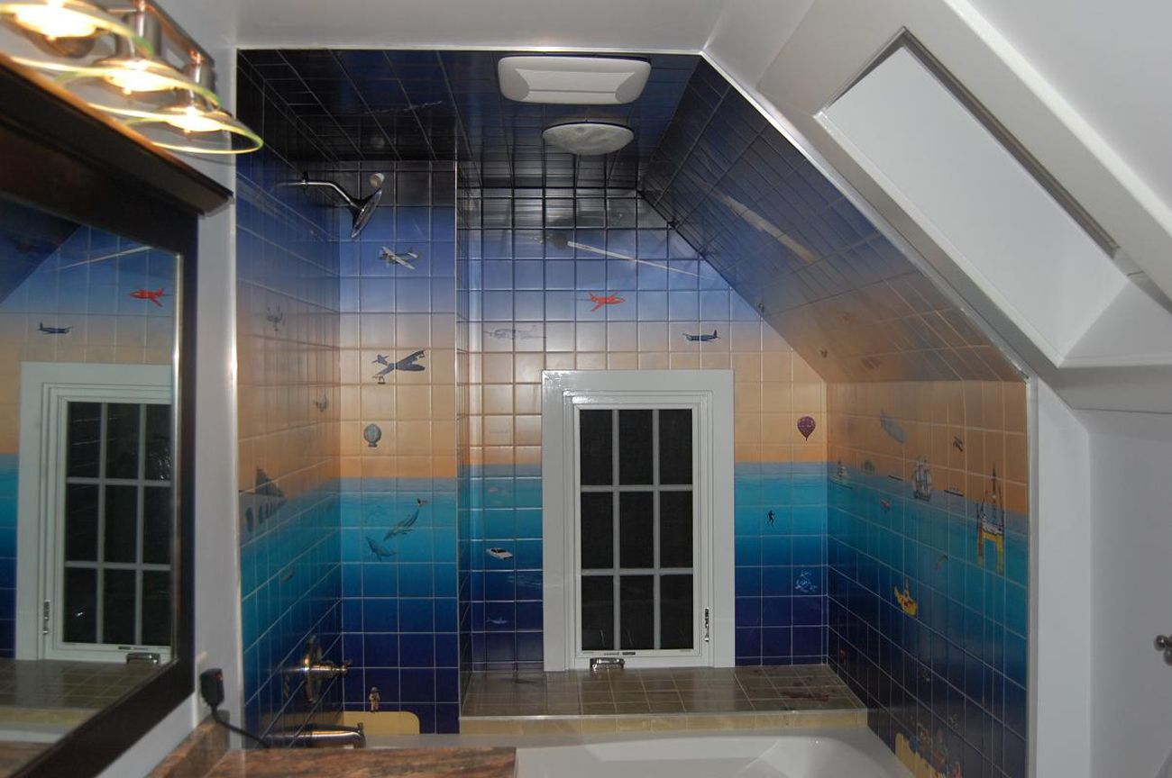 bath room tiles with custom printed images making picture mural bath room tiles with custom printed images making picture mural on walls and ceiling
