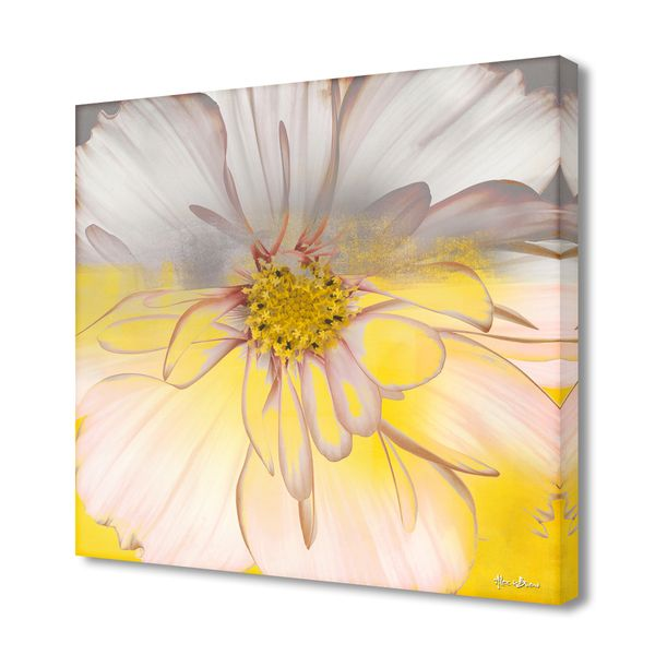 "$92 - 30x30"" - Ready2hangart Alexis Bueno 'Painted Petals XXXIV' Canvas Wall Art - Overstock™ Shopping - Top Rated Ready2hangart Canvas"