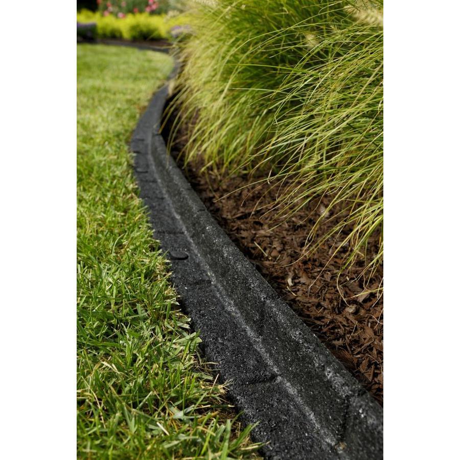 Rubberific Black Rubber Landscape Edging Section At Lowes 400 x 300