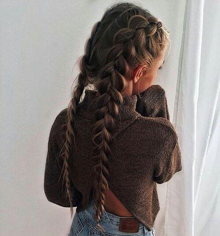 2 tresses coll es coiffures pinterest tresses coll es bague magique et collant. Black Bedroom Furniture Sets. Home Design Ideas