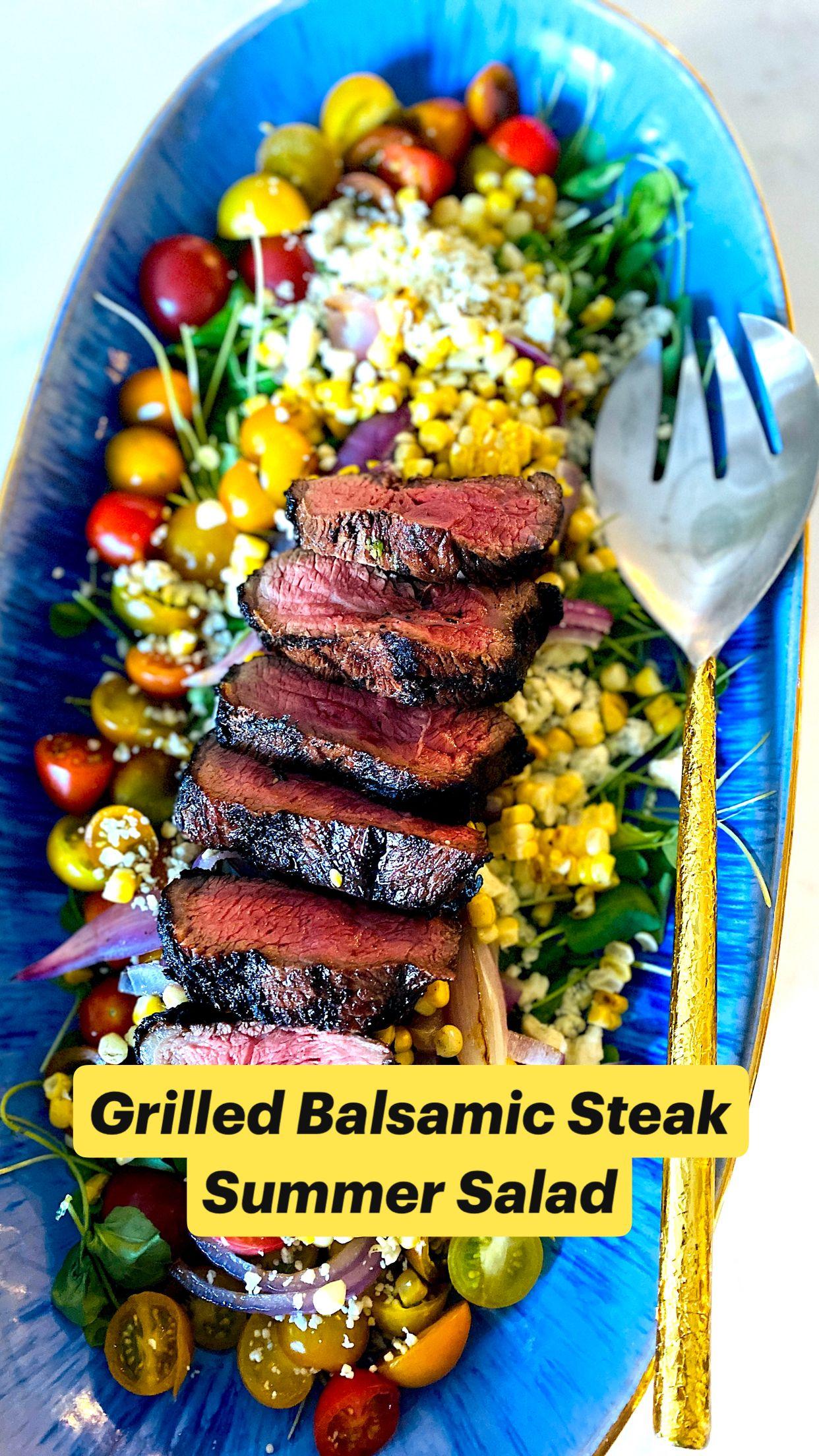 Grilled Balsamic Steak Summer Salad