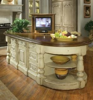 Continental Kitchen Island With Lift Traditional Kitchen Home Kitchens Home Beautiful Kitchens