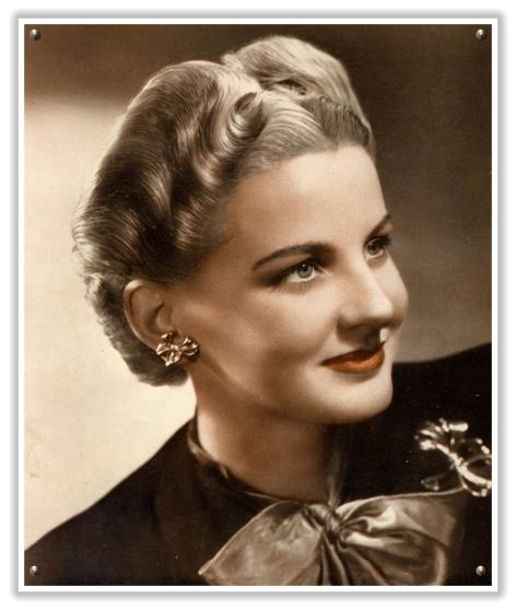 1940 Hairstyles Veiled Haven  The Wedding Inspiration Blog Vintage Hair Brushed