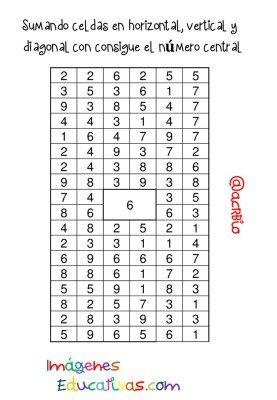 Sopas de Numeros Repasamos la suma (4)
