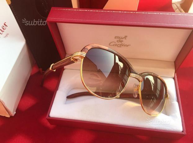 b11f2de7b4fb Malmaison de Cartier occhiali Legno bubinga oro - Abbigliamento e Accessori  In vendita a Napoli Vintage
