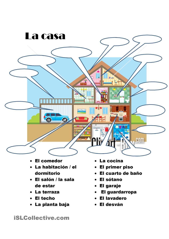 La casa | Espagnol | Pinterest | Spanisch, Spanisch lernen und ...