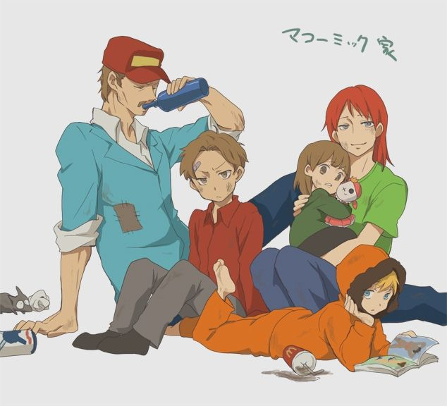 South Park Anime The McCormick p.s Kenny's Family