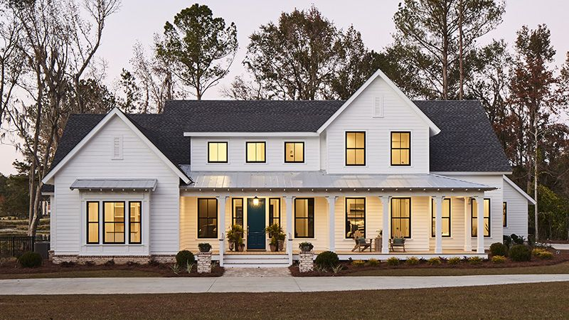 This Layout Works Perfect With Out Existing Garage Modern Farmhouse