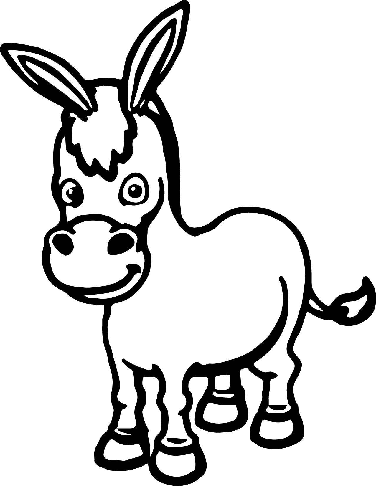 Cartoon Donkey Coloring Pages Cute Donkey Coloring Pages Baby Coloring Pages
