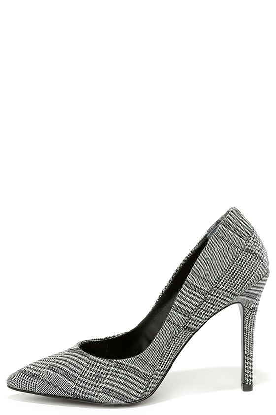 Charles by Charles David Pact Black and White Plaid Pumps