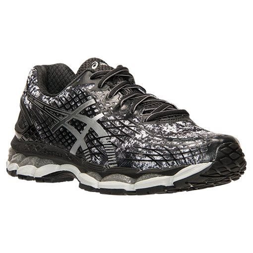 Pretty Nice Mens Running Shoes - Asics Gel Nimbus 17 Black/Black/Silver