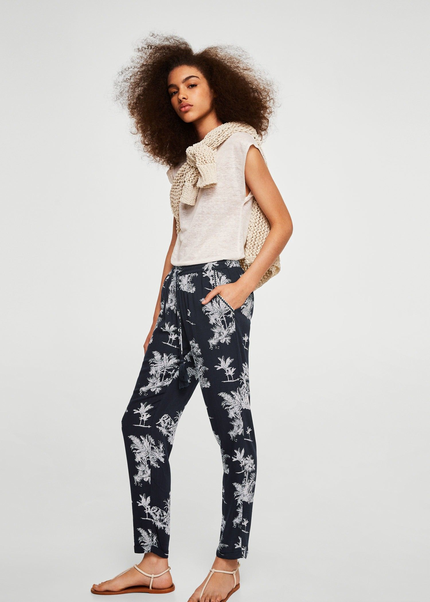 05edabbdb0f7 Mango Flowy Printed Trousers - XS