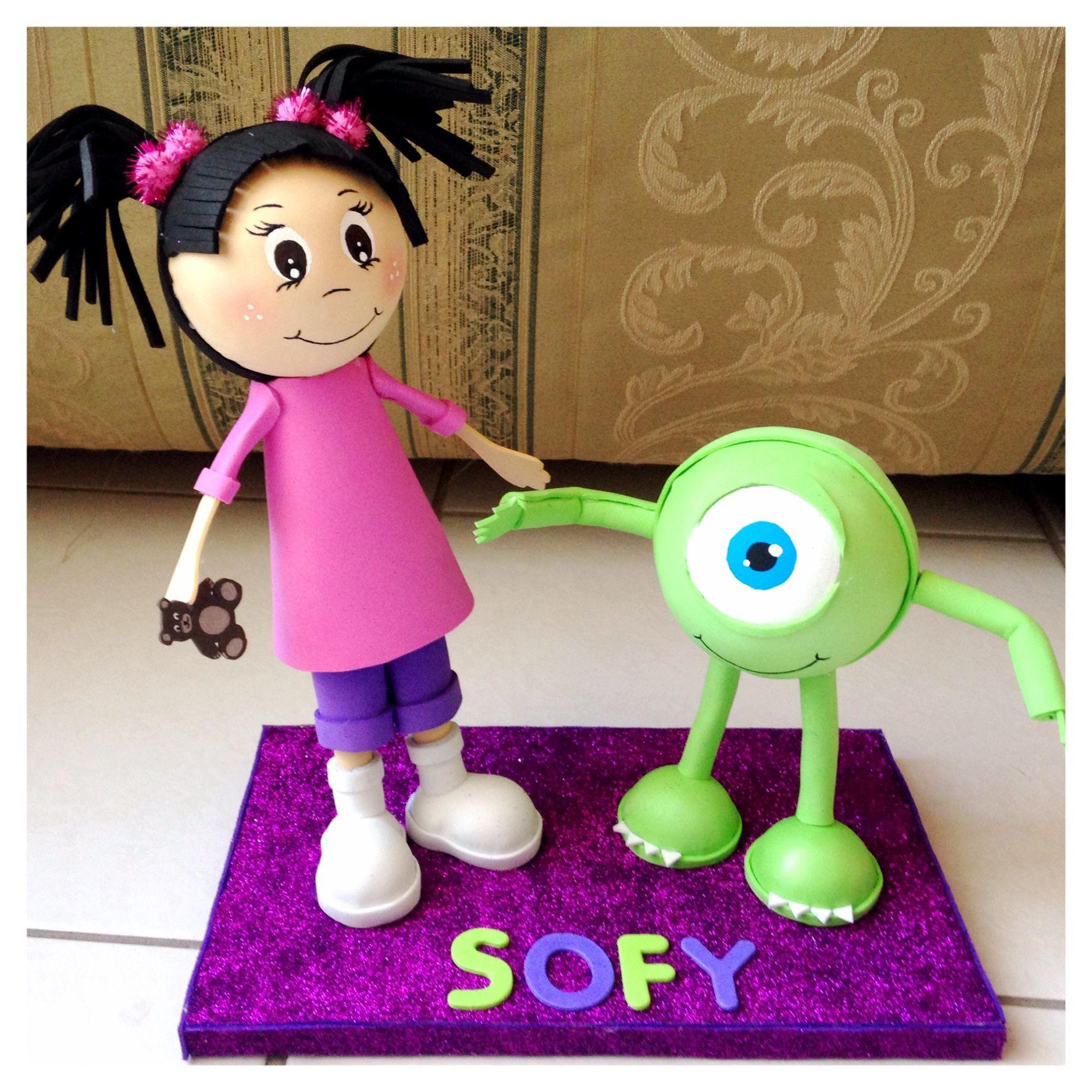 Fofucha Boo and Mike Wazowski Monster Inc. | Fofuchas | Pinterest