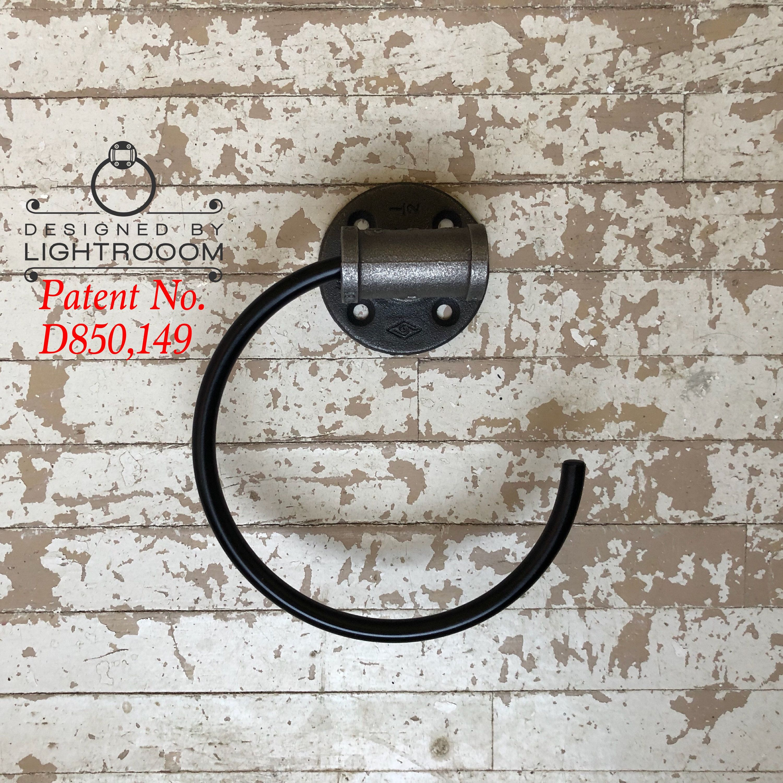 Pipe Bathroom C Shape Ring Black Towel Ring Modern HGTV Bath Idea Kitchen Bathroom Decor Farmhouse Hand Towel Ring Zinc Best Gift
