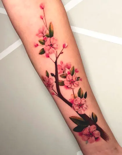 10 Cherry Blossom Sleeve Tattoo Ideas For Your New Floral Tattoo Design Check Out Our Blog To Re In 2020 Sakura Tattoo Blossom Tree Tattoo Cherry Blossom Tree Tattoo