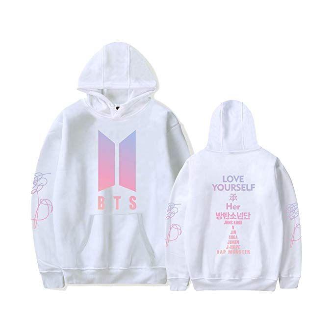 141613eadb074 Kpop BTS Love Yourself Her Hoodie Suga Rap-Monster Jimin Jin J-Hope Jung  Kook Unisex Fashion Jumper for Women Men Sweatshirt