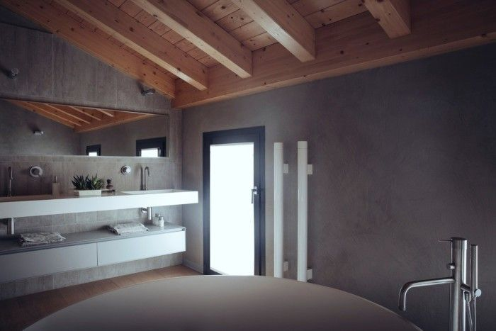 Bagno senza piastrelle bathroom without tiles for the bathroom