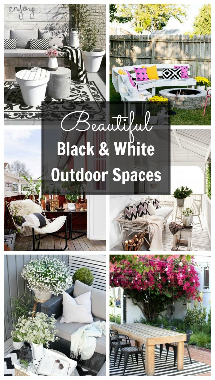 Friday Faves Beautiful Black And White Outdoor Spaces Outdoor