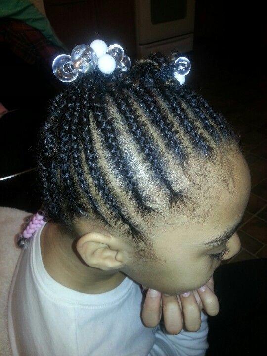 Left Side Cornrow Styles For Little Girls Kids