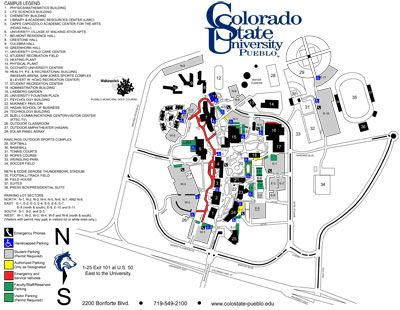 A map of campus | Colorado state university, State ...