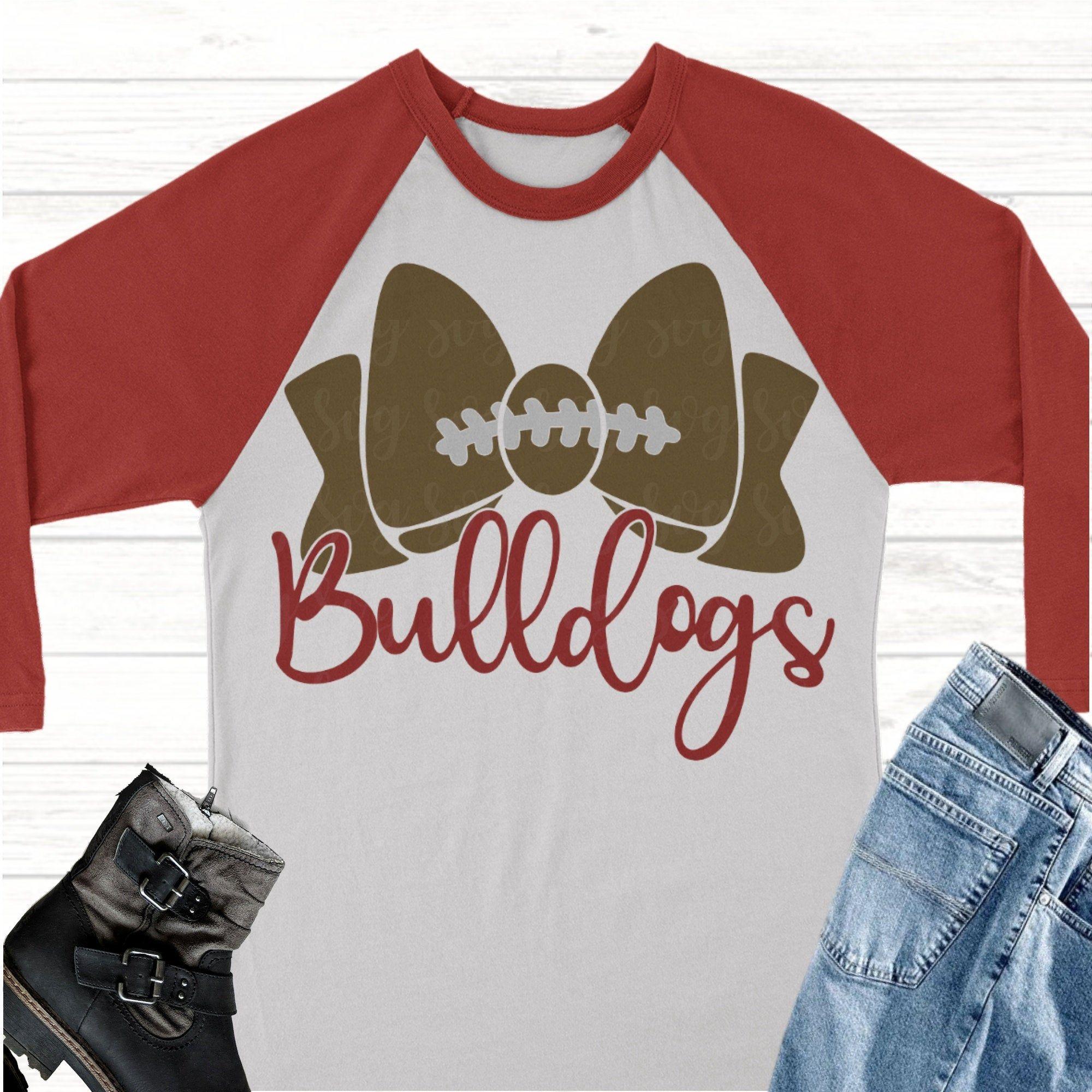 Bulldogs football bow svgFootball svgbulldogs football