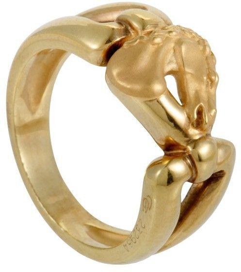 Carrera y Carrera Ecuestre 18K Yellow Gold Horse Ring Size 625