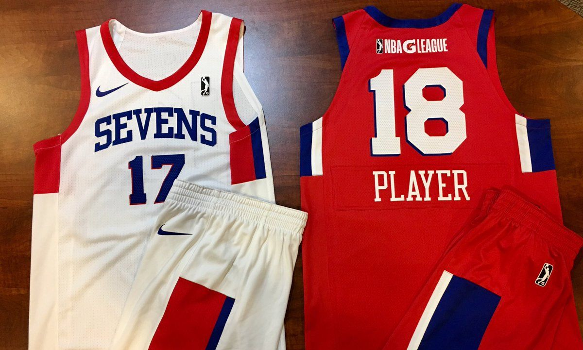 b1ba1d678ec  NBA  GLeague  Sixers  Philadelphia76ers  Sevens  Delaware87ers  sports   Delaware  Basketball  uniforms  Jerseys