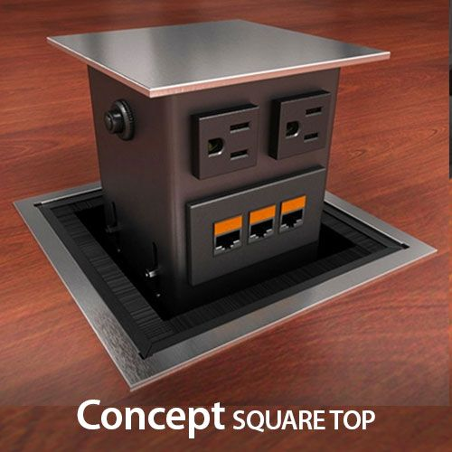 ComDeck Motorized PopUp Power Data Prtal For Conference Tables - Conference table pop up box