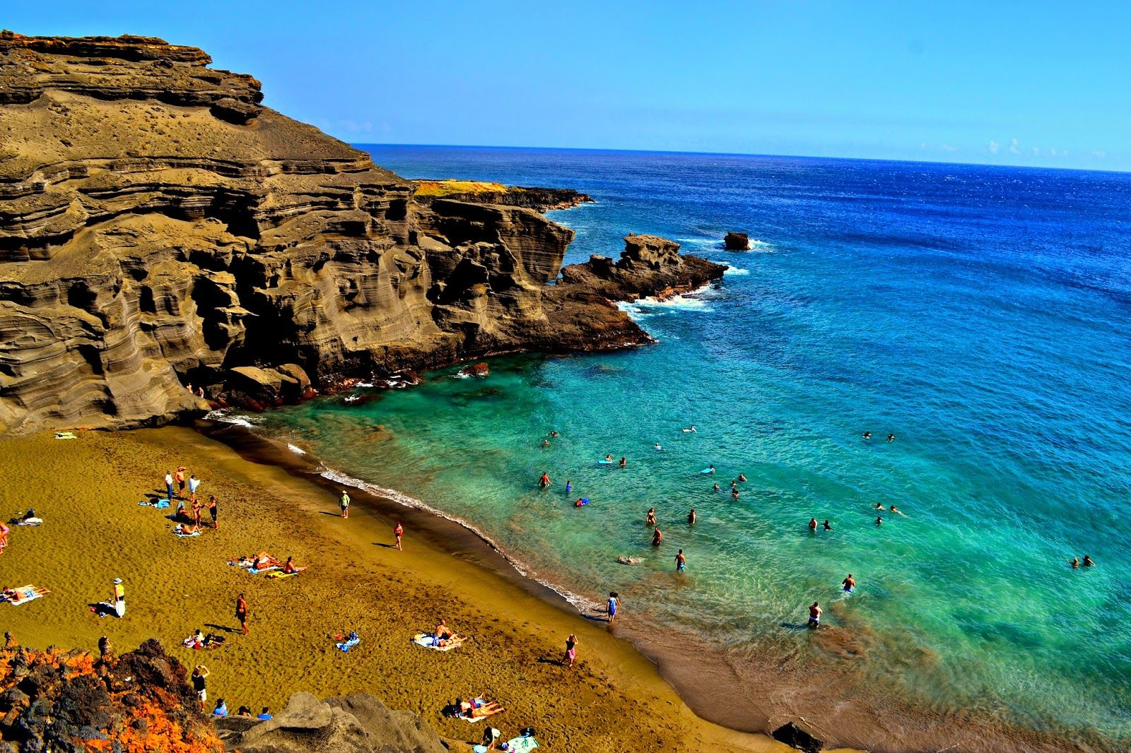 Hiked To The Green Sands Beach Family Travel Blog 5 Best Beaches On Island Of Hawaii