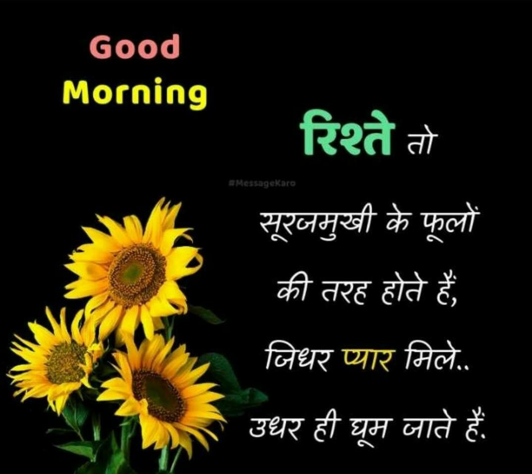 Pin By Neel On Good Morning Good Night Hindi Good Morning Quotes Good Morning Good Night Morning Pictures